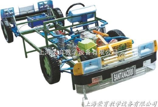 08 汽车发动机模型 汽车桑塔纳整车模型 汽车电路实习